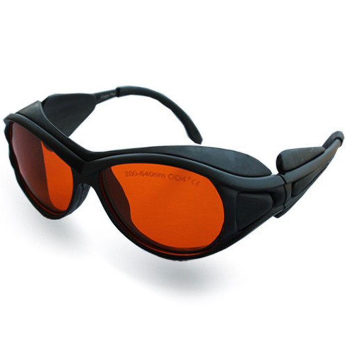 Invisible Ir laser goggles glass for 200-540nm and 800-2000nm laser